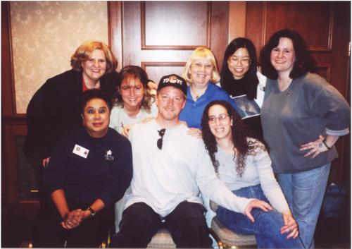 RDM with the members of RanDoM Flight at the GB 2001