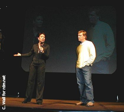 RDM and Roxann Dawson onstage at Grand Slam (Photo by Charlies Wall)